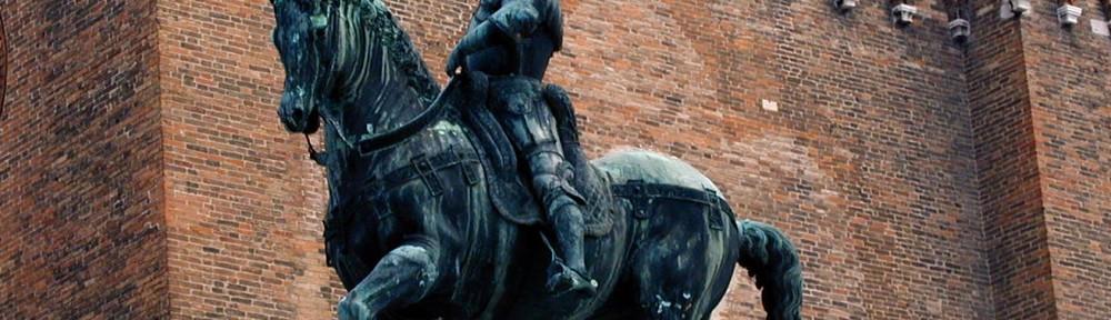 Statue of Bartolomeo Colleoni by Verrochio, in Venice