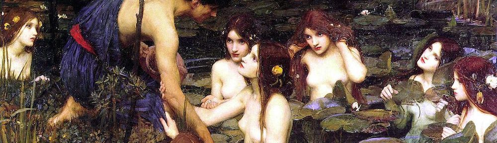 Hylas and the Naiads, by John William Waterhouse, 1896