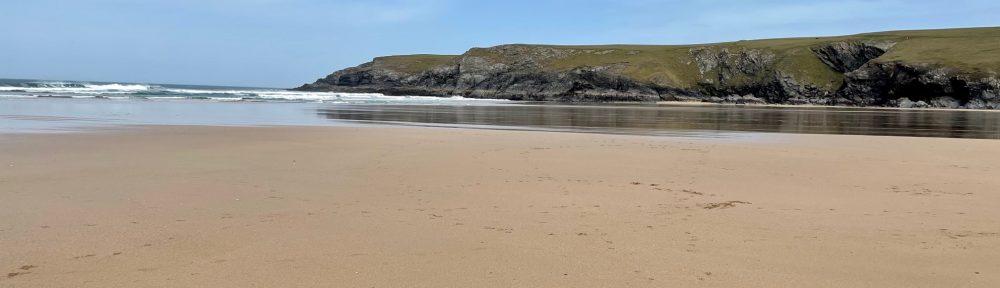 Holywell Bay beach